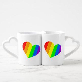Regenbogen-Liebhaber-Tasse Liebestasse