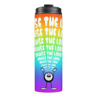 Regenbogen-Lob der Lord Emoji Thermosbecher