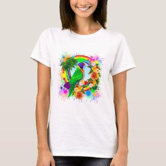 Regenbogen Lorikeet Papageien-Kunst T-Shirt