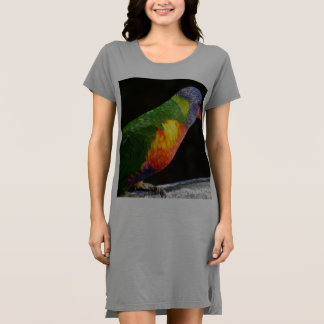 Regenbogen Lorikeet T - Shirtkleid/Nightie Kleid