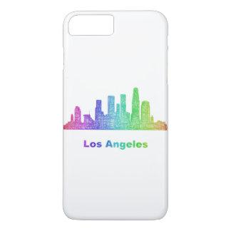 Regenbogen-Los Angeles-Skyline iPhone 8 Plus/7 Plus Hülle