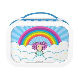 Regenbogen-Mädchen-Brotdose Brotdose