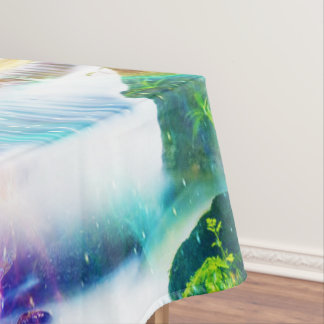 Regenbogen-Mädchen-Garten Tischdecke
