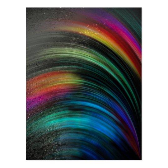 Regenbogen magisch vereint postkarte