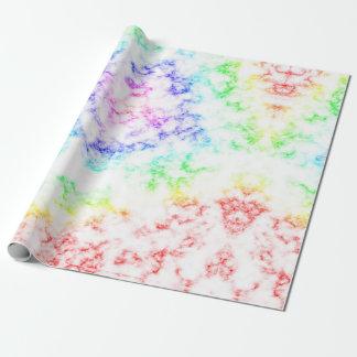 Regenbogen-Marmor Geschenkpapier