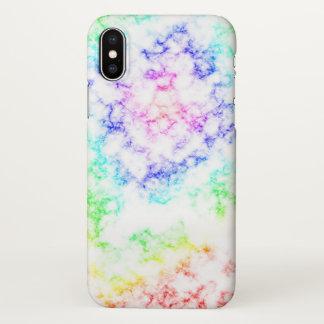 Regenbogen-Marmor iPhone X Hülle