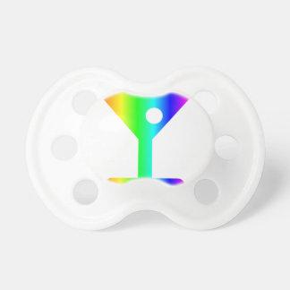 Regenbogen-Martini-Glas Schnuller