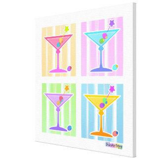 Regenbogen-Martinis auf Galerie eingewickelter Leinwanddruck