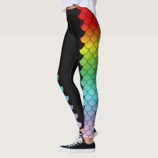 Regenbogen-Meerjungfrau-Metamorphose Leggings