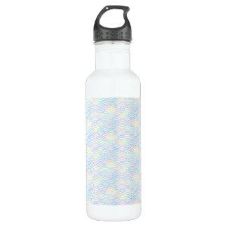 Regenbogen-Meerjungfrau-Pastell Edelstahlflasche