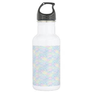 Regenbogen-Meerjungfrau-Pastell Trinkflasche