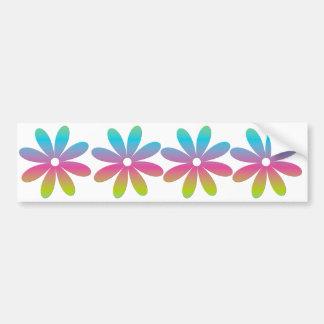 Regenbogen-mehrfarbige Blume Autoaufkleber