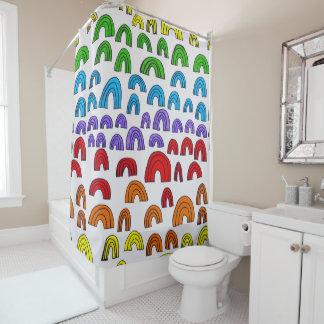 Regenbogen-Meta- Duschvorhang