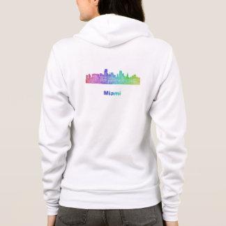 Regenbogen-Miami-Skyline Hoodie