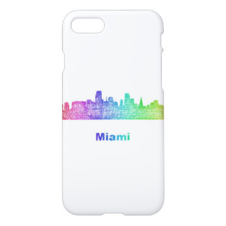Regenbogen-Miami-Skyline iPhone 8/7 Hülle