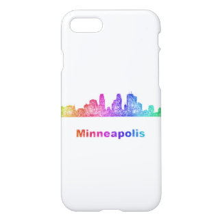 Regenbogen-Minneapolis-Skyline iPhone 8/7 Hülle
