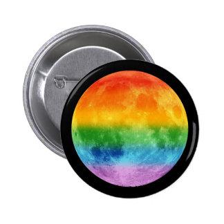 Regenbogen-Mond Runder Button 5,7 Cm