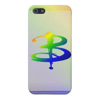 Regenbogen-Monogramm iPhone 5 Fall-b iPhone 5 Hüllen