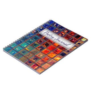 Regenbogen-Mosaik-Fliesen-mutige helle Notizblock