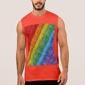Regenbogen-Mosaik-Gay Pride-Flagge Ärmelloses Shirt