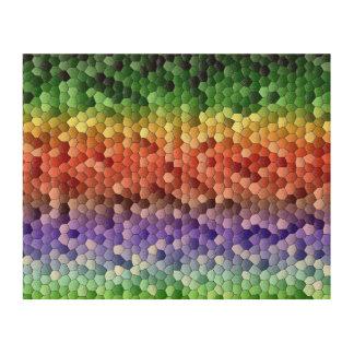 Regenbogen-Mosaik Holzleinwand