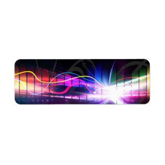 Regenbogen-musikalische Wellen-Form
