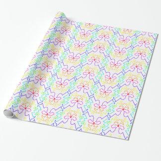 Regenbogen-Muster auf weißem Hintergrund Geschenkpapier