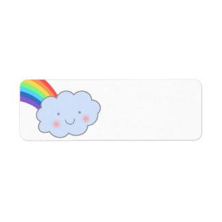 Regenbogen nach Regen-Rücksendeadressen-Aufkleber