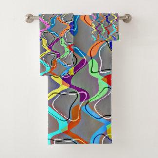 Regenbogen-Netz Badhandtuch Set