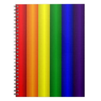 Regenbogen-Notizbuch
