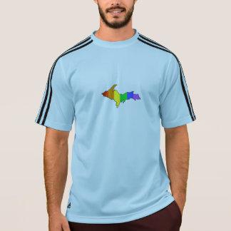 Regenbogen-Oberleder-Halbinsel T-Shirt