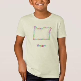 Regenbogen-Oregon-Karte T-Shirt