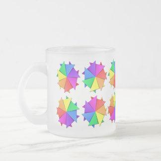 Regenbogen origami mattglastasse