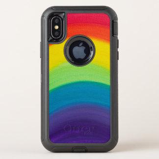 Regenbogen OtterBox Defender iPhone X Hülle