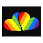 Regenbogen-Paare 10,8 X 14 Cm Einladungskarte