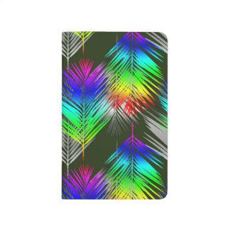 Regenbogen-Palme Taschennotizbuch