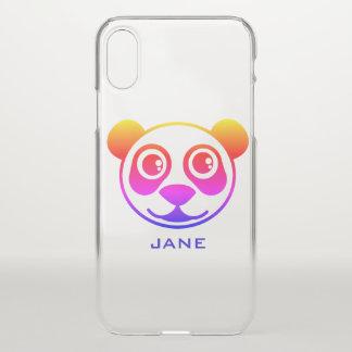 Regenbogen-Panda personalisiert iPhone X Hülle