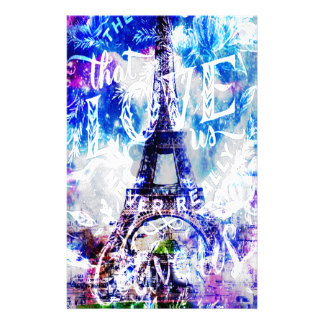 Regenbogen-Pariser Träume von den diese Liebe wir Briefpapier