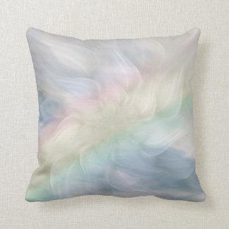 Regenbogen-PastellblumenMandalaentwurf Kissen