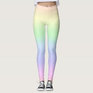 Regenbogen-Pastelle Leggings