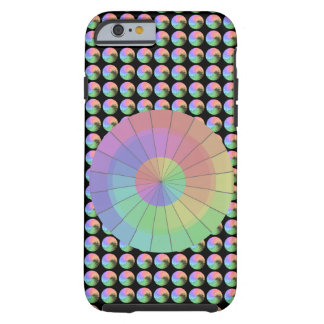 Regenbogen-Pastellfarbspitzen-einzigartige Mode Tough iPhone 6 Hülle