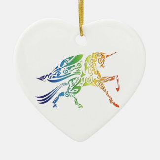 Regenbogen-Pegasus-Waren Keramik Ornament