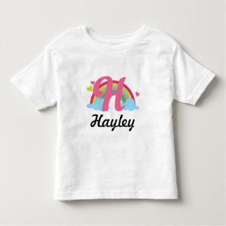 Regenbogen-personalisiertes T-Stück des Kleinkind T-shirt
