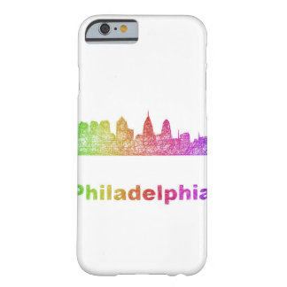 Regenbogen-Philadelphia-Skyline Barely There iPhone 6 Hülle