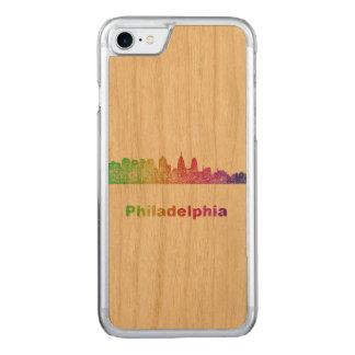 Regenbogen-Philadelphia-Skyline Carved iPhone 8/7 Hülle