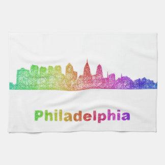 Regenbogen-Philadelphia-Skyline Handtuch