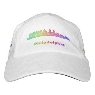 Regenbogen-Philadelphia-Skyline Headsweats Kappe