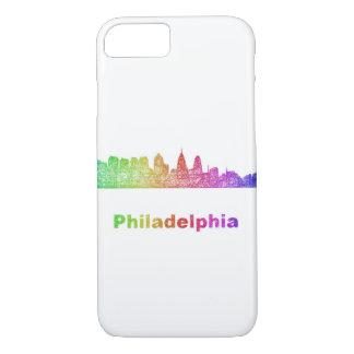 Regenbogen-Philadelphia-Skyline iPhone 8/7 Hülle