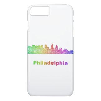 Regenbogen-Philadelphia-Skyline iPhone 8 Plus/7 Plus Hülle