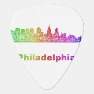 Regenbogen-Philadelphia-Skyline Plektrum